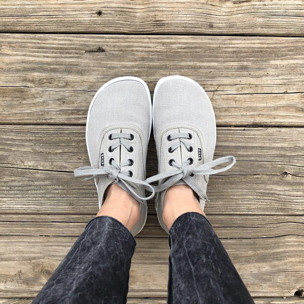 Bohempia barefoot vegan sneakers Kolda grey