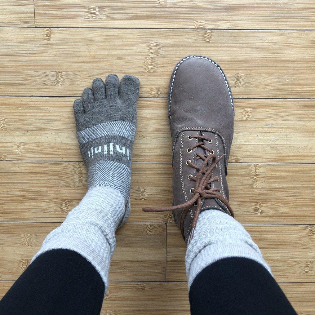 Injinji barefoot toe socks review