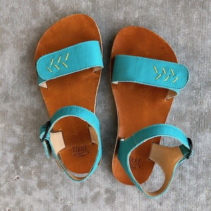 Tikki Barefoot sandals in teal