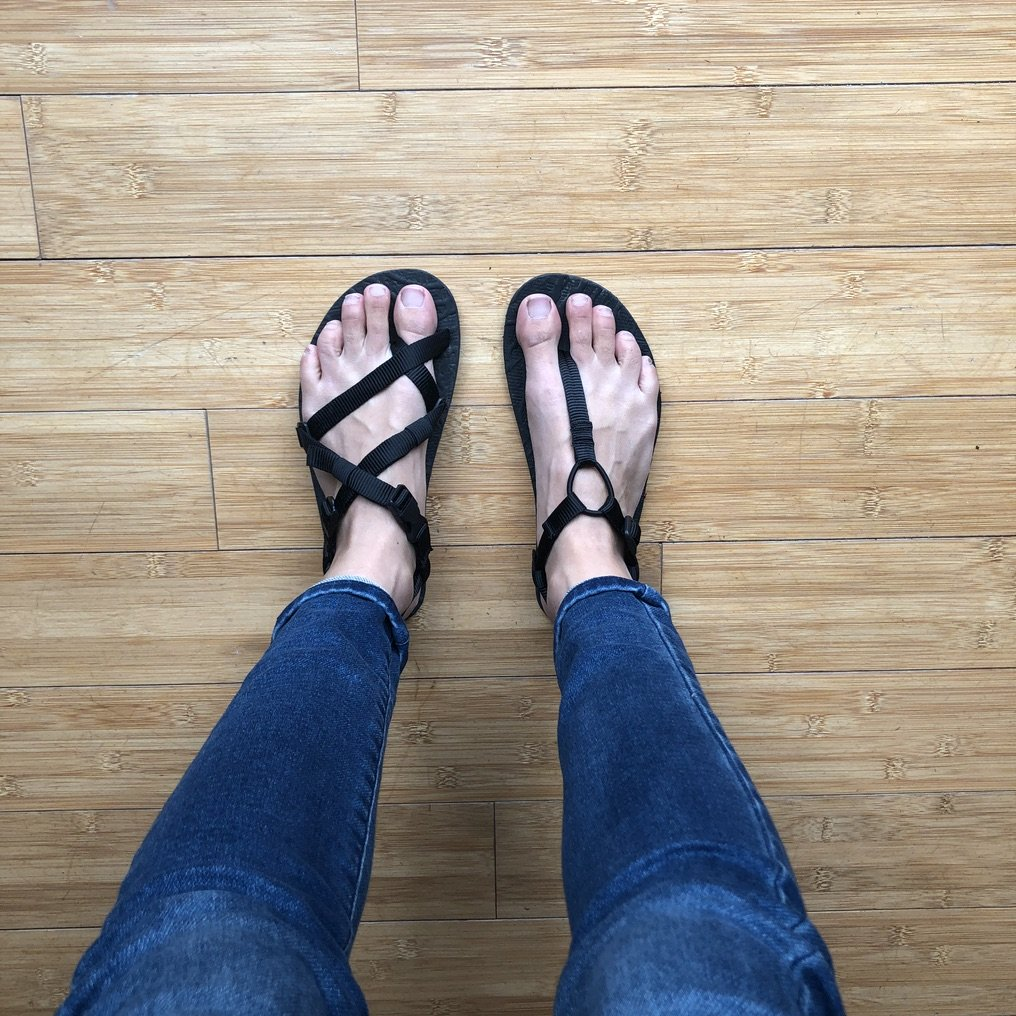 discount code for barefoot shoes at Unshoes footwear - Uinta and Keota side by side