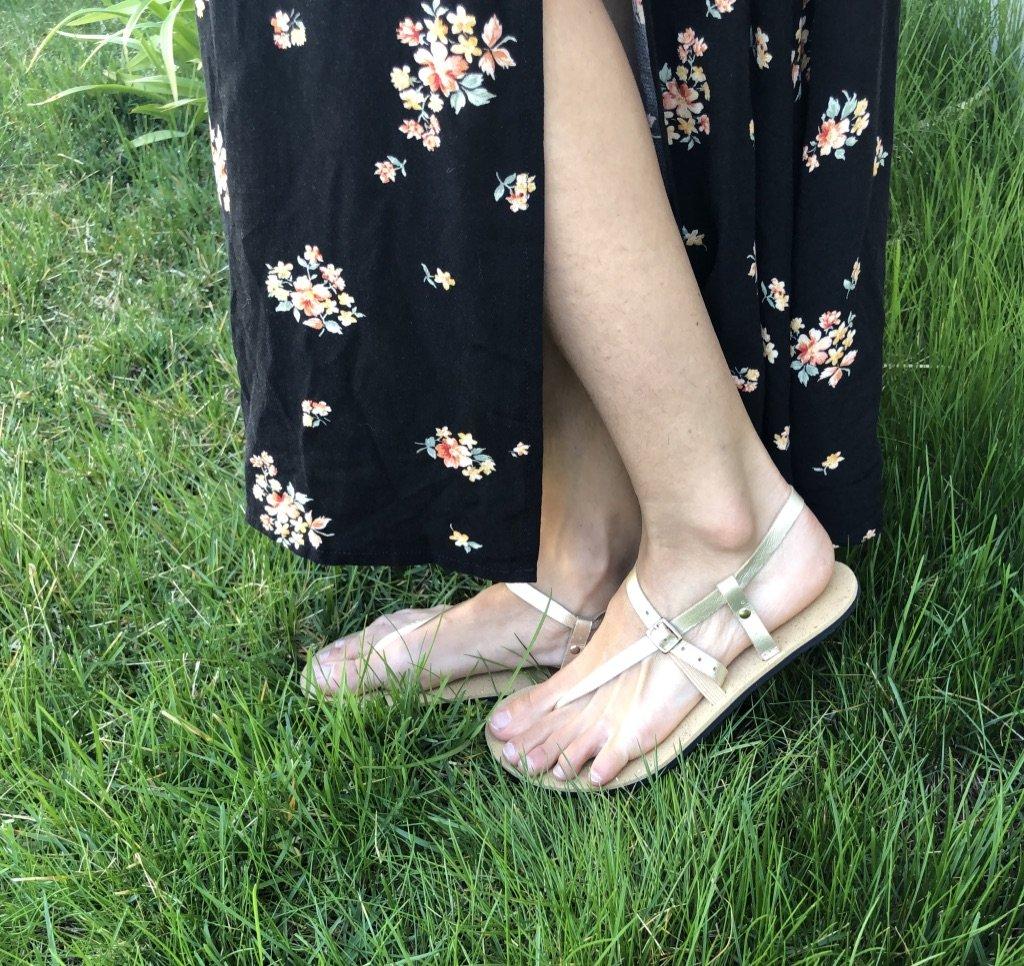 Unshoes footwear saffron close up