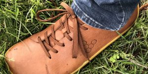 Vivobarefoot Addis sneaker review close up shot