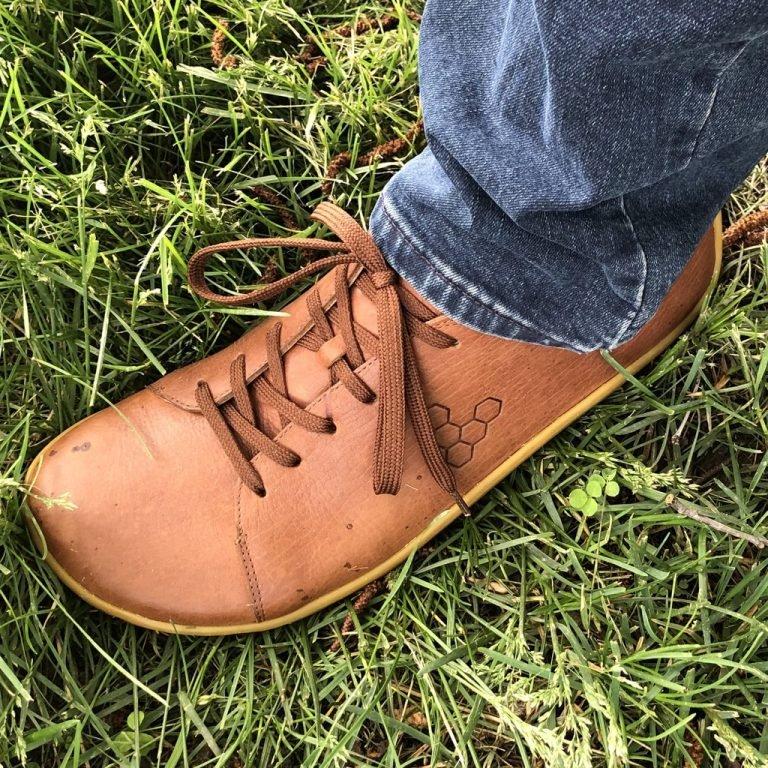 Vivobarefoot Addis sneaker review close up shot