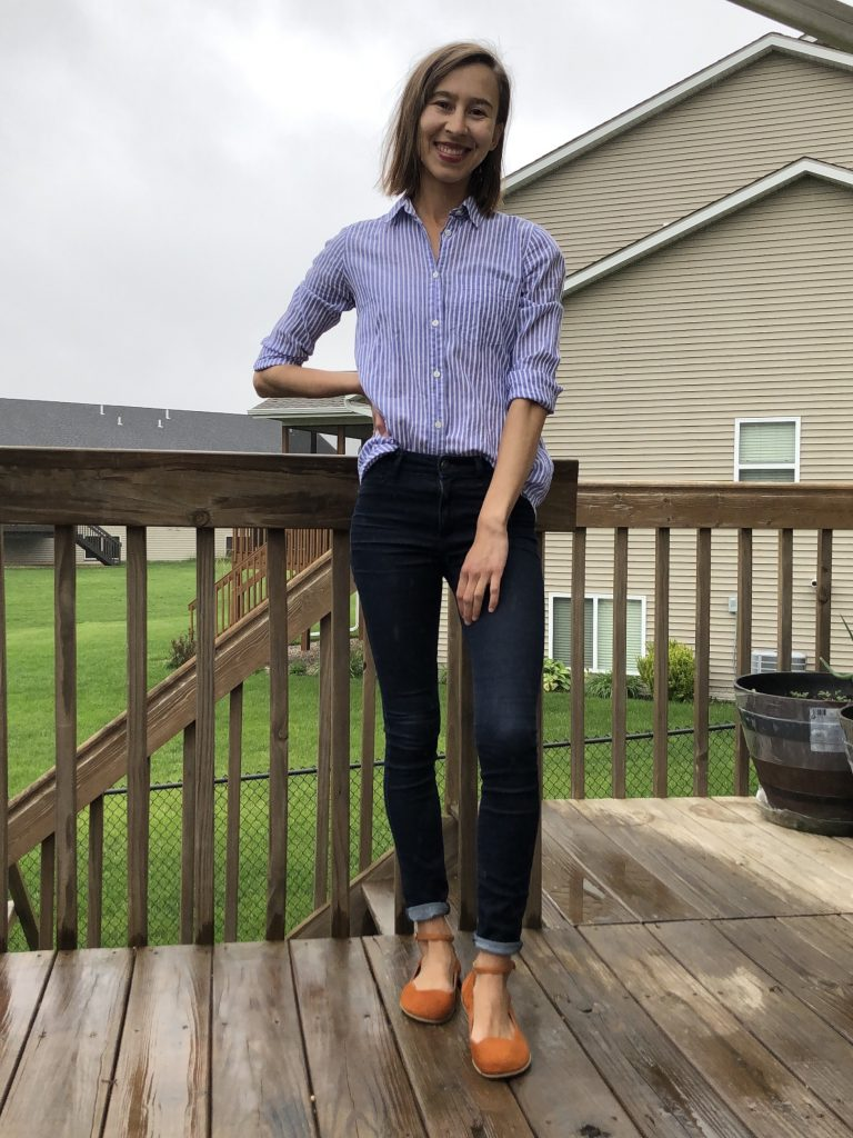 lisbeth joe barefoot ballet flats outfit inspiration