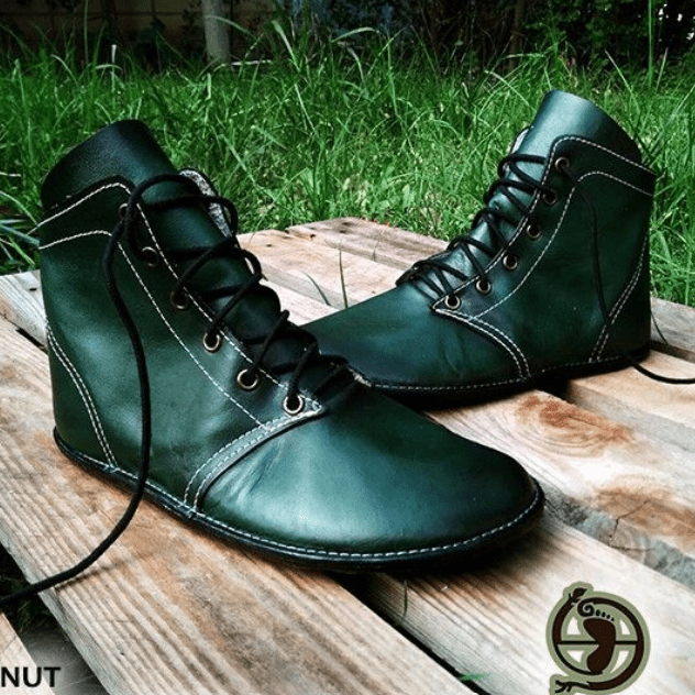 a pair of Gea Soles handmade barefoot leather boots
