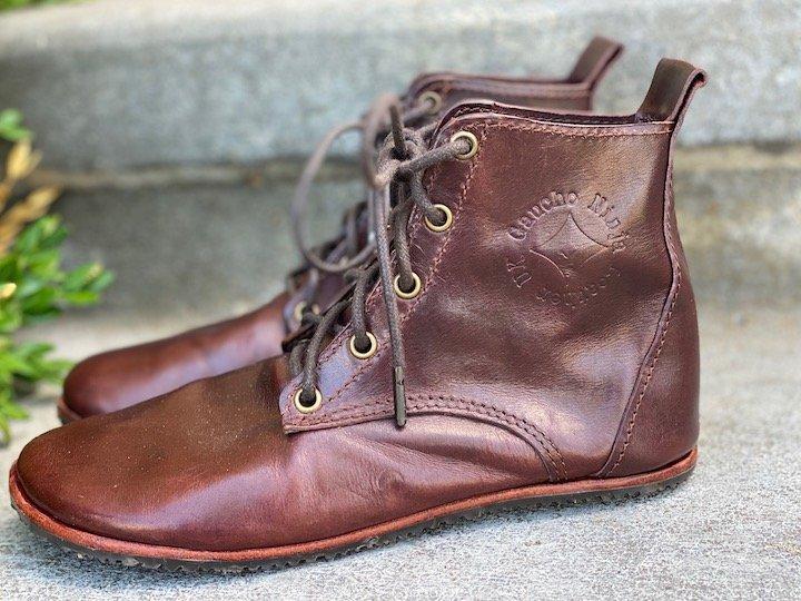 close up of the Gaucho ninja chukka barefoot handmade boot side view