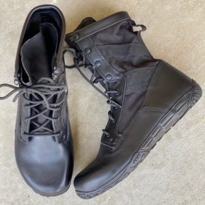 close up of the belleville mini mil tactical boot for men in black