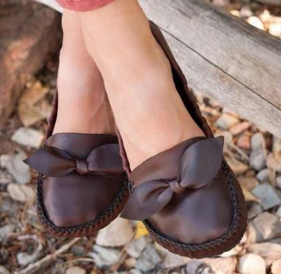 Unshoes Primrose mahogany moccasin barefoot ballet flat