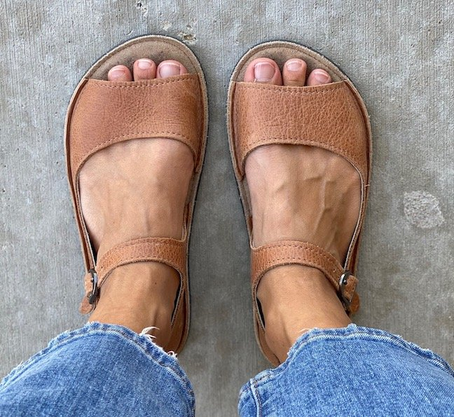 Top down view of Softstar Solstice Sandals in youth size